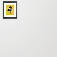 My baseball hero! Framed Art Print