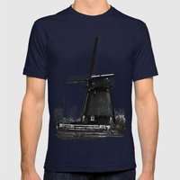 Dutch Windmill Mens Fitted Tee Navy SMALL