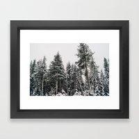 Snowy Paradise Framed Art Print