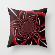Black And Red Abstract Throw Pillow