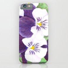Pansies flowers Slim Case iPhone 6s