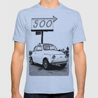 Fiat 500 Forever Mens Fitted Tee Athletic Blue SMALL