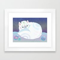 Arctic Fox Framed Art Print
