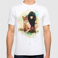 Fox Love Mens Fitted Tee Ash Grey SMALL