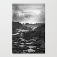 Forests And Storms - Bla… Canvas Print