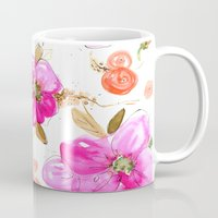 All-Pink Double Spring Floral Mug