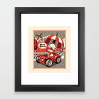 Drive Safely Framed Art Print