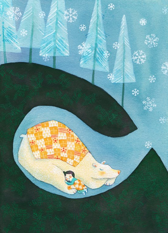 Hibernating Together Art Print
