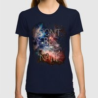 Don't Be So Naive Womens Fitted Tee Navy SMALL