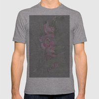 Rose Orchid Drawing Mens Fitted Tee Athletic Grey SMALL