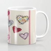 Embroidered Heart Illustration Mug