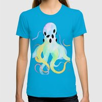 Psycho-dellic Womens Fitted Tee Teal SMALL