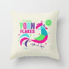 Porn Flakes Throw Pillow