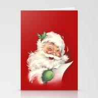 Vintage Santa Stationery Cards