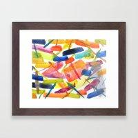 Abstract Brushstrokes Framed Art Print