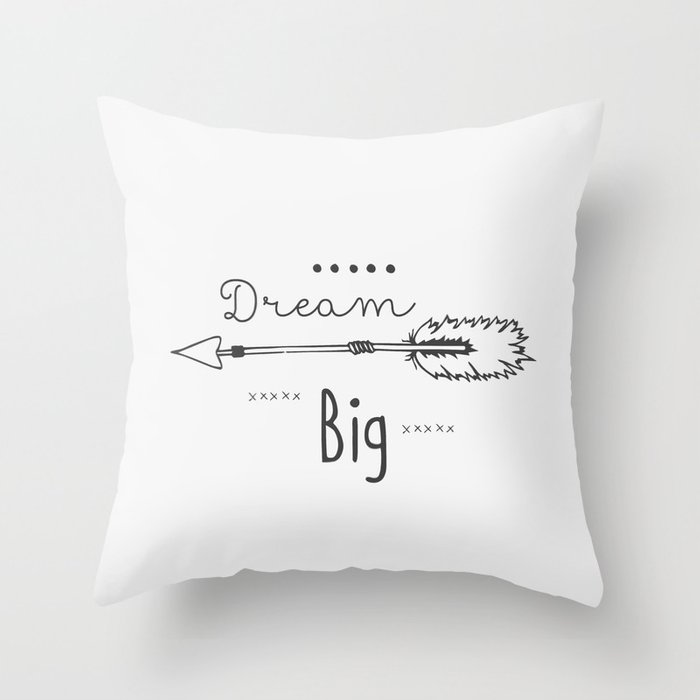 Dream big gray Throw Pillow by 16floor Society6