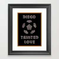 Diego Maradona - Tainted… Framed Art Print