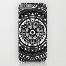 Black and White Mandala Slim Case iPhone 6s