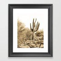 Saguaro Framed Art Print