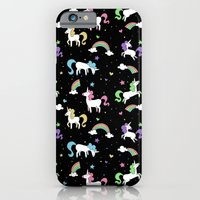 Unicorns and Rainbows - Black iPhone 6 Slim Case