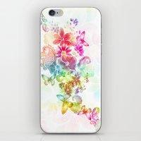 paisley flutter iPhone & iPod Skin