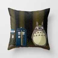 Throw Pillow featuring Allons-y Totoro Alternat… by Mikaelak