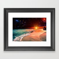 Galaxy beach Framed Art Print