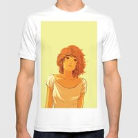 Summer Girl Mens Fitted Tee White SMALL