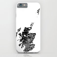 Typographic Scotland European map art  Slim Case iPhone 6s