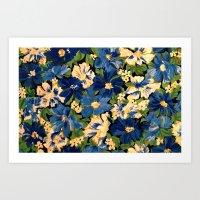 Flower Fabric Art Print
