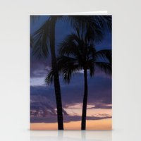 Palms At Dusk Stationery Cards