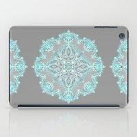 Teal And Aqua Lace Manda… iPad Case