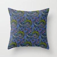 Lizzards Pattern. Throw Pillow