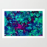 Midnight Oil Spill Art Print