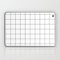 White Grid  /// www.pencilmeinstationery.com Laptop & iPad Skin