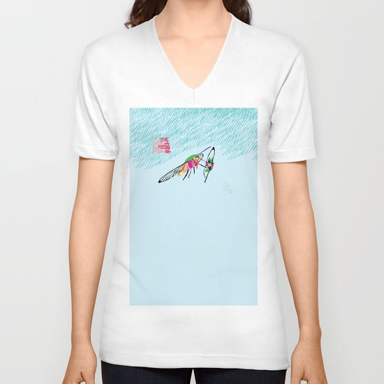Bringing what I got [MOTH] [COLORS] [RAIN] [GIVEN] [GIVE] V-neck T-shirt