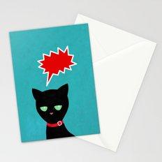 cat -Black cat Stationery Cards