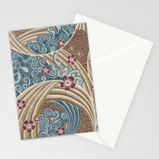 Waves of tradition-olive Stationery Cards