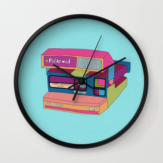 Captures Great Moments (color fun) Wall Clock