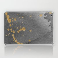 Gray and gold Laptop & iPad Skin