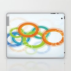 Digital Geometric Circles Laptop & iPad Skin
