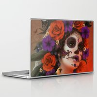 day of the dead Laptop & iPad Skins featuring Day of the Dead by Cellesria /Tanya Varga - Digital Artist