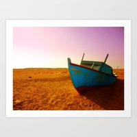 sailing the sand Art Print