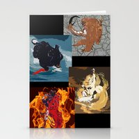 The Elemental Fiends Stationery Cards