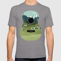 Rocky Mountain High - Gu… Mens Fitted Tee Tri-Grey SMALL