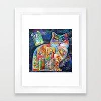 Tarot Cat Framed Art Print