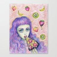 Bebe Food  Canvas Print