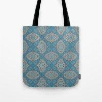 Tribal Tile Blue Tote Bag