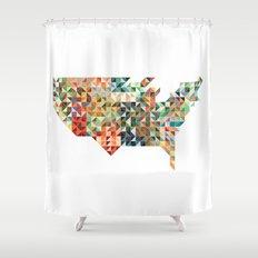Geometric United States Shower Curtain
