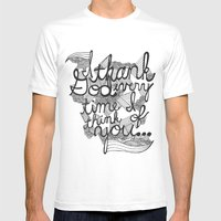 Thankful Mens Fitted Tee White SMALL